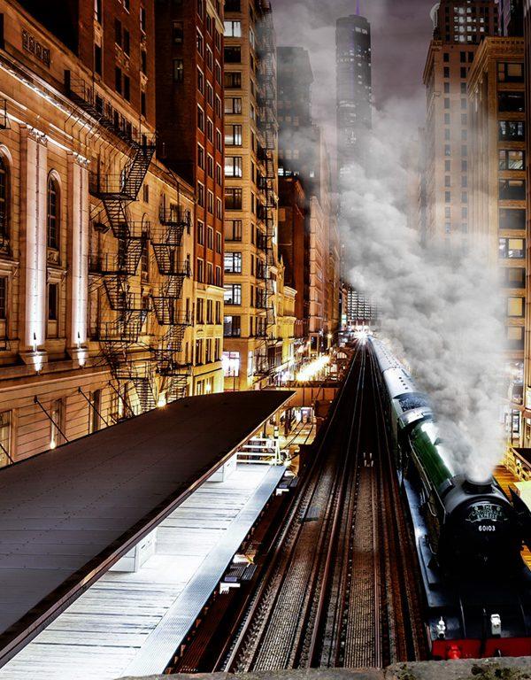 Art Work The Flying Scotsman Steam Engine