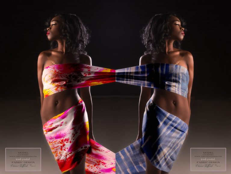 Abstract Art On Fabric | Colby Files Model