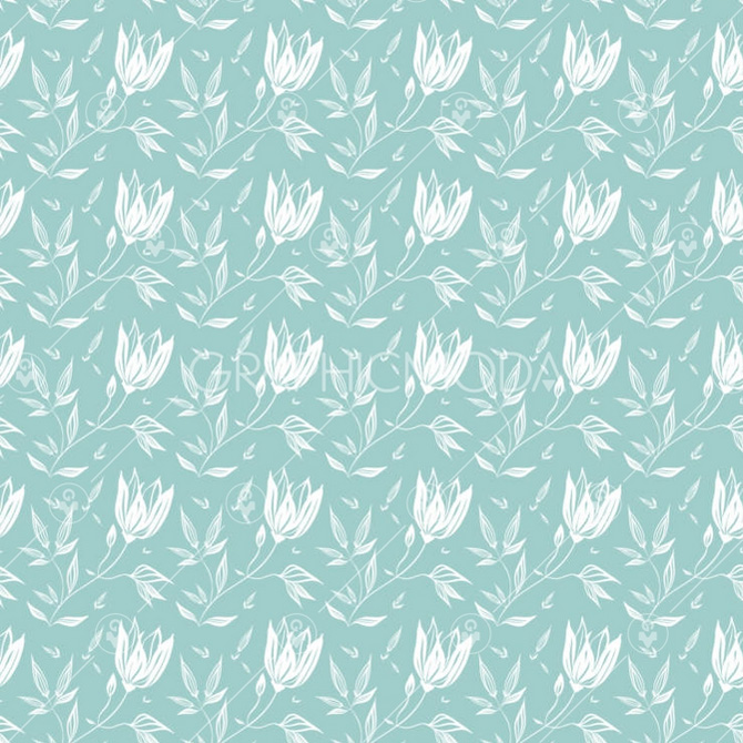 LINEAR FLORAL Seamless Repeat Pattern